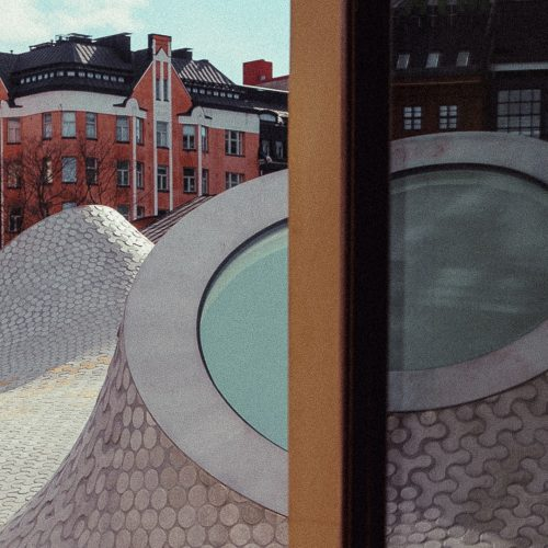 Window and building in the background
